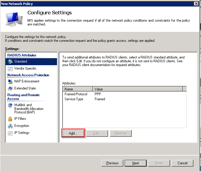 11. In the Configure Settings dialog: a.