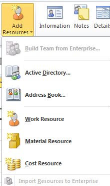 Open your project and click Resources tab, the following is revealed > View > click Team Planer You then add resources in the same way as you added tasks > click Add Resources To assign resources