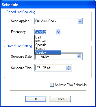 Schedule Time: Choose a time on which schedule is to be executed. Activate this Schedule: Select this so as to make the schedule active.