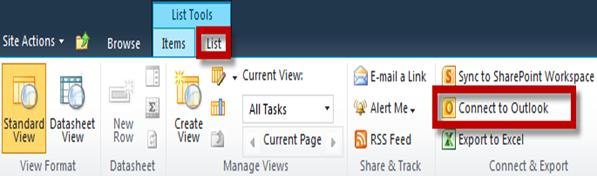 Editing a List Item 1. Navigate to your list through the Quick Launch panel on the left side. 2. Select the list item by clicking the checkbox next to it. 3.