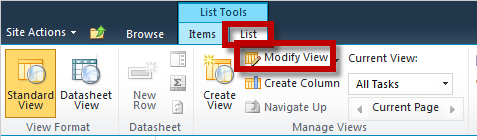 Lists Adding to a List 1. Navigate to your list through the Quick Launch panel on the left side. 2. Click the link to add new item. 3. Fill out the fields in the next screen as needed then click save.