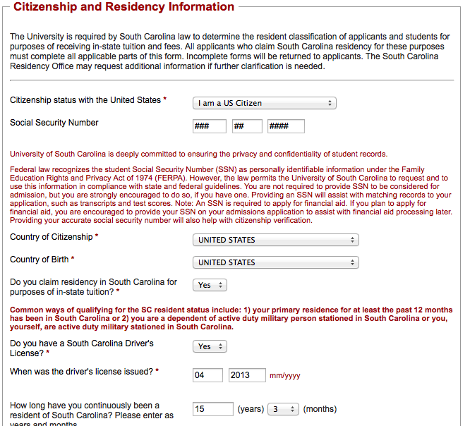 2 On the second page of the application, you ll be asked to choose your major, or program of study.
