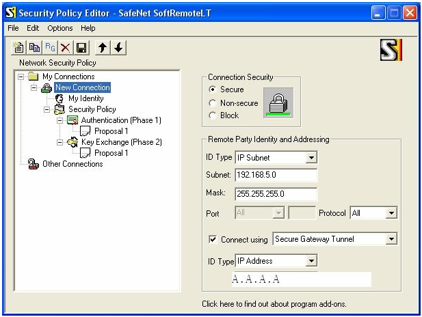 3. Settings for PC installed with SafeNet at Home (Right-side) 3.
