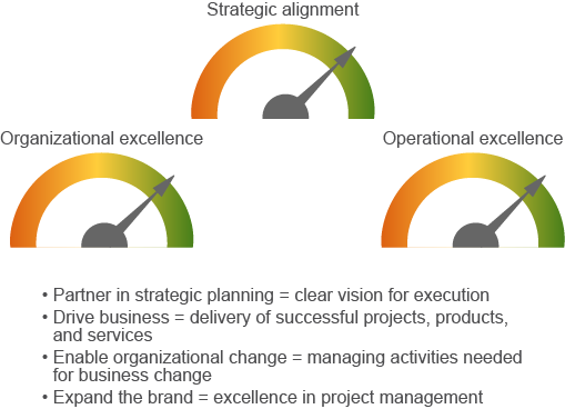 3 The PMO Mission: Move The Strategic Needle For The Company The PMO leaders and executives we interviewed had a common goal: Enable the organization to grow the business by building a core set of