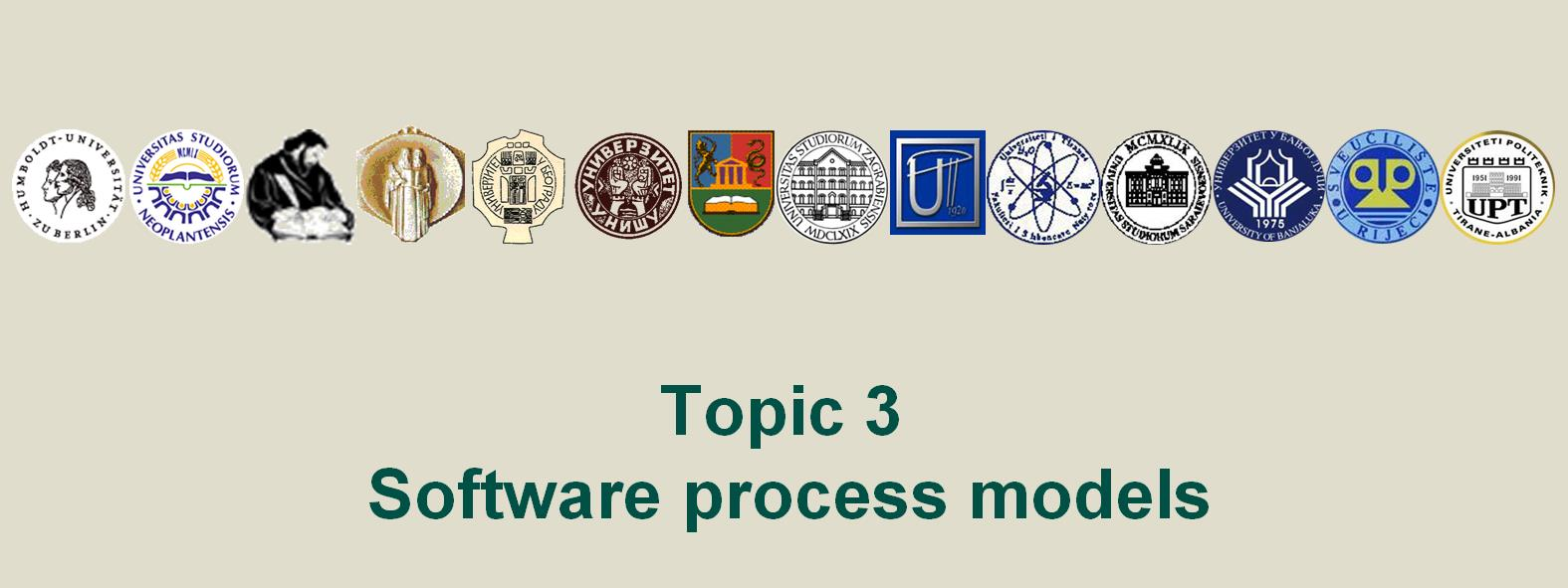 Title: Topic 3 Software process models (Topic03 Slide 1).