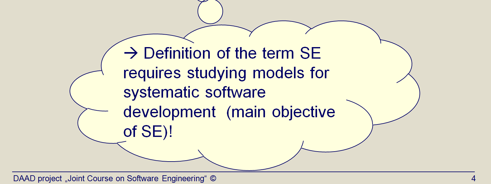 Title: Why process models? (Topic03 Slide 4). The IEEE definition demands a systematic approach to the development of software.