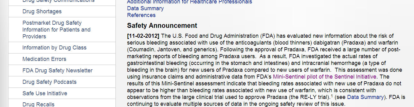 Drugs This assessment [ used ] FDA