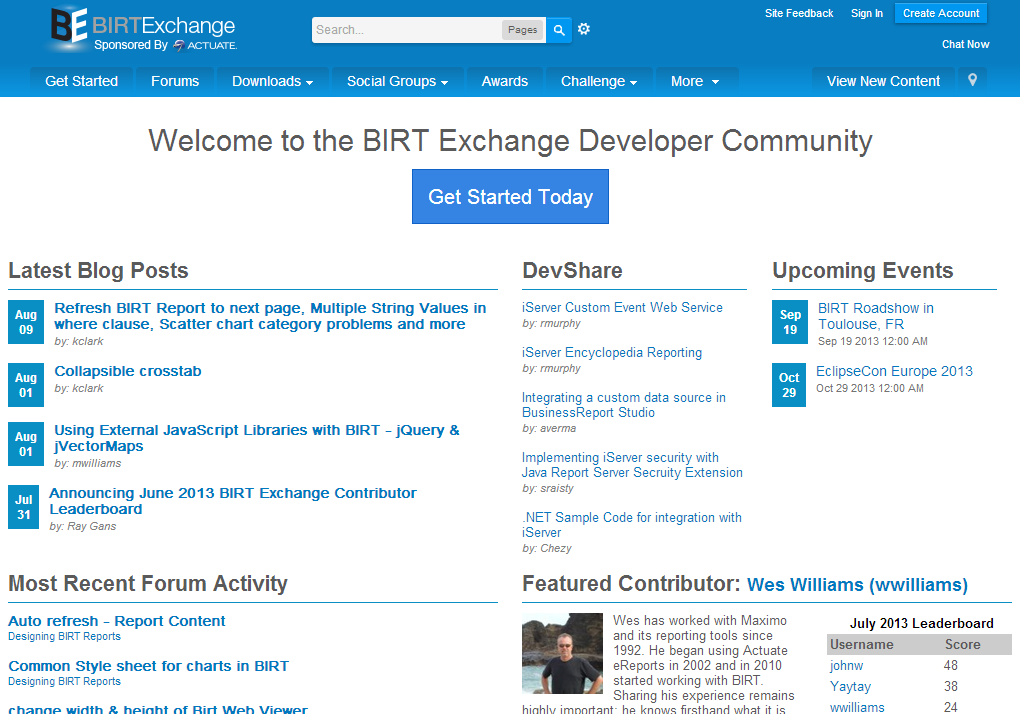 Resources BIRT Exchange Community Site Centralized hub for BIRT developers Access demos, tutorials, tips and techniques, documentation Enables developers to be more productive and