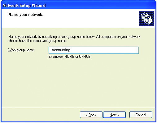 Networking Basics Enter a Computer description and a Computer name (optional.