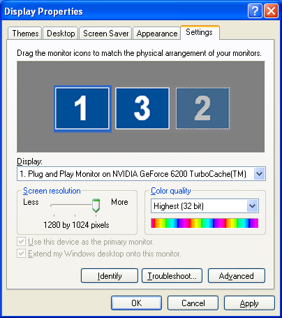 "Using Multi-Screen Display 27 C Click ""Display properties"". E Drag the displayed monitor icon and place it where desired."