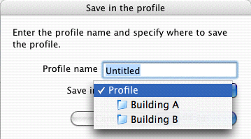 "Connecting to a Projector on a Different Subnet 35 B Enter a Profile name, and then click ""Add"". For Mac OS Projector information is registered in the Profile."
