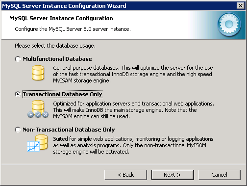8 If you selected Dedicated MySQL Server Machine and your MySQL service does not start after the wizard completes, then try to re-run the wizard (or