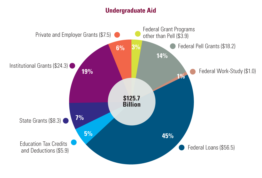 Undergraduate Student Aid by Source (in Billions)