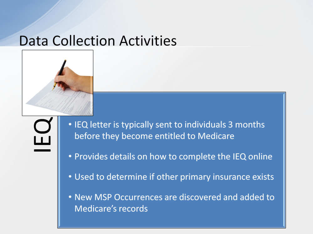An Initial Enrollment Questionnaire (IEQ) letter is typically sent to individuals approximately two to three months before they become entitled to Medicare.