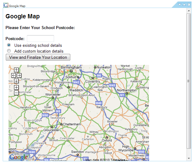 Google Plug-ins Google has some great features available on the Internet and we have integrated these with School Jotter. The most commonly used is a Google Map.