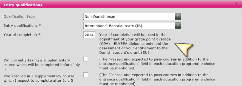 3 Entry qualifications Please note If you are expecting your final exam 2015, you must remember to upload your diploma as soon as you receive it.