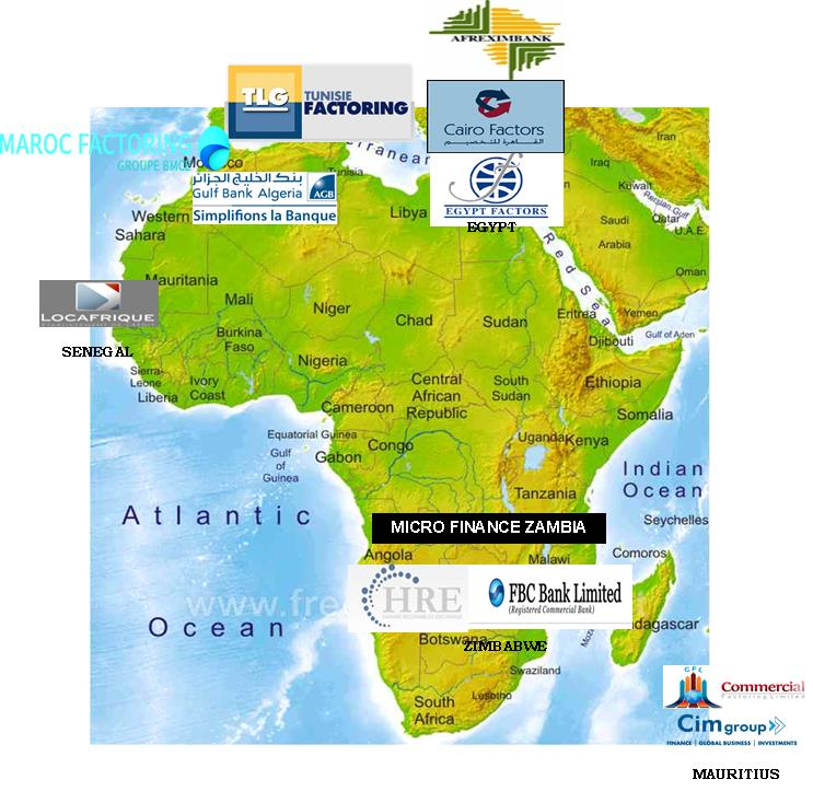 2. Collaboration with International Factors Group (IFG) (cont d) The Bank and the Africa Chapter participate in mobilizing Factors to join IFG. 12 Members belong to the Chapter as at date. 1. AFREXIMBANK 2.