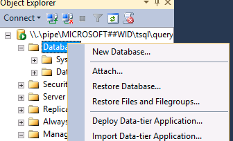 On the Detach Database screen, check the Drop Connections checkbox, and click OK. Browse to C:\Windows\WID\Data You may need to accept a User Account Control prompt. Move SUSDB.