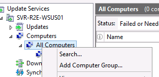 Click on Options in the left hand pane. Click on Computers on the right pane. In the Computers property window that appears, click on Use Group Policy or registry settings on computers.