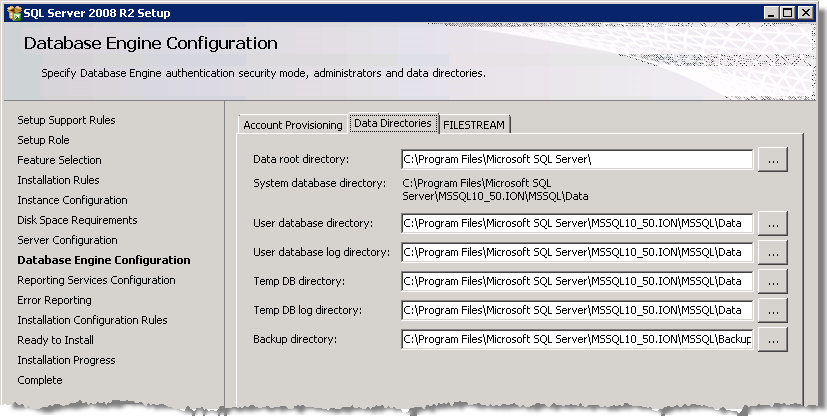 StruxureWare Power Monitoring 7.0.1 Installation Guide Installing SQL Server 11.