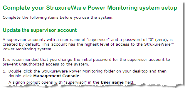 StruxureWare Power Monitoring 7.0.1 Installation Guide Standalone installation 12. Click Next when the configuration process completes to open the Complete page.