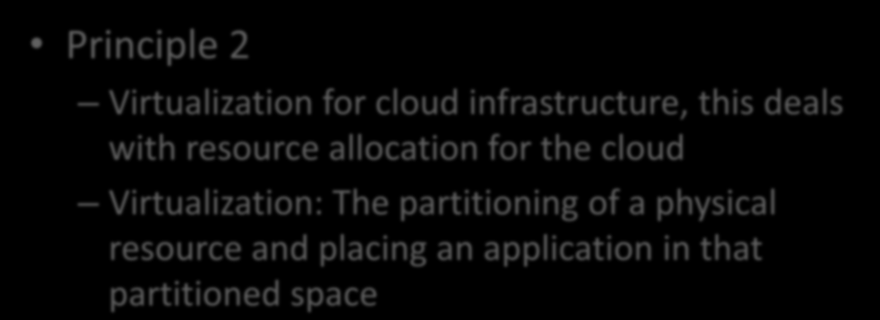 CCOA 7 Principles Principle 2 Virtualization for cloud infrastructure, this deals with resource allocation for the