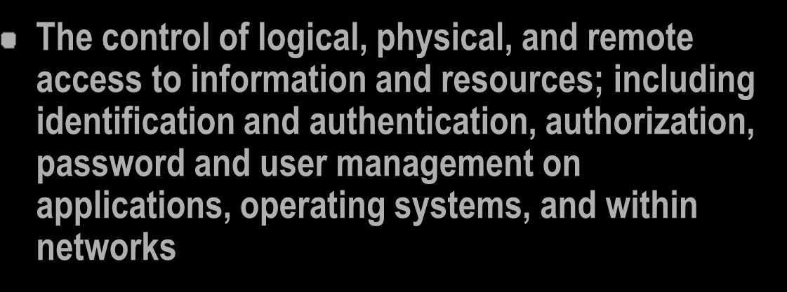 Security Control Objectives - 4 Communications and Operations Management: Key security aspects of managing network and system components securely, including backups, anti-virus, patches, media and