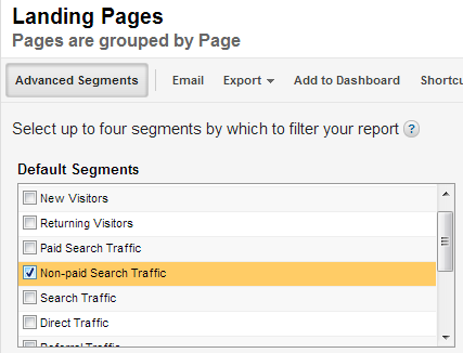 TIP: Segment by organic search and look at the engagement, bounce rate and conversion