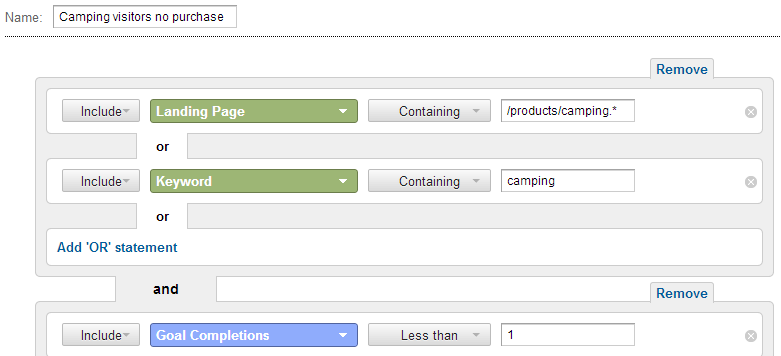 TIP: Make custom segments based on similar behaviors to see where you can optimize the