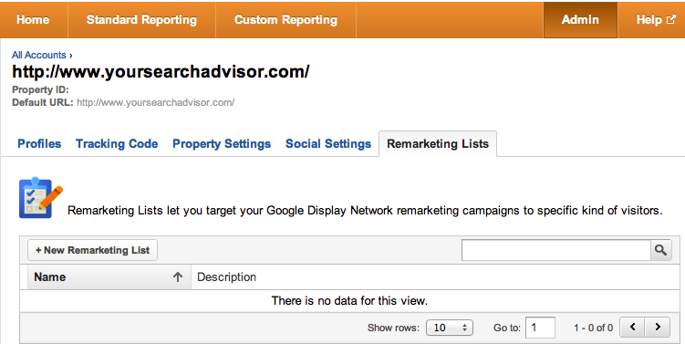 TIP: Google Analytics now lets you create retargeting rules based on your analytics configuration and data.