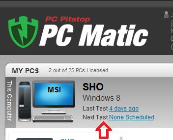 Scheduling - How to set PC Matic to run automatically 1.