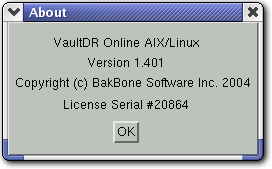 NetVault : Backup User s Guide 15 DR.2.2 Figure DR-8: The About dialog box which offers various information pertaining to the installation of a plugin DR.3.
