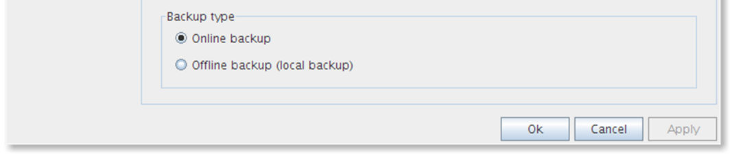 5.2.1 Create or change backup task To create or change a backup task: Create task Change task 5.2.2 General Click on New Task to create a new backup task.