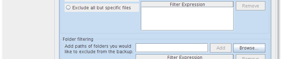 7 Filter You can add file filters or folder filters that are excluded or included in the backup task. You can also choose to include hidden files by checking the checkbox.