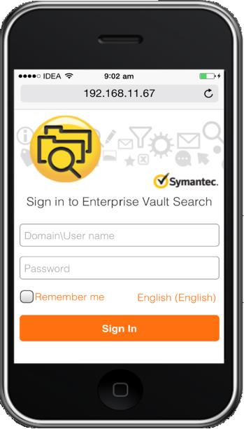 Enterprise Vault Search Enterprise Vault Search replaces three legacy search applications: Archive Explorer, Browser Search, and Integrated Search.