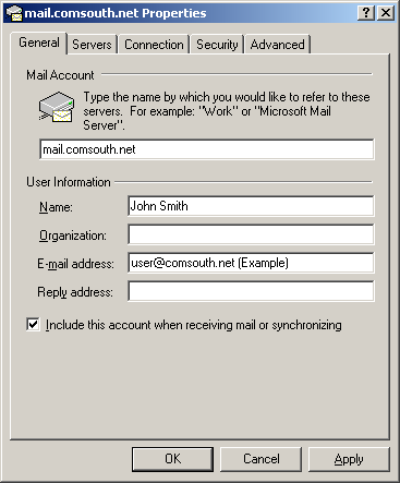 OUTLOOK EXPRESS INSTRUCTIONS OUTLOOK EXPRESS Settings Open Outlook Express and Select Tools then Accounts