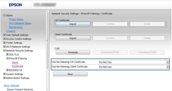You see a window like this: 3. Select the certificate you want to use as the Use the following CA Certificate option. 4.