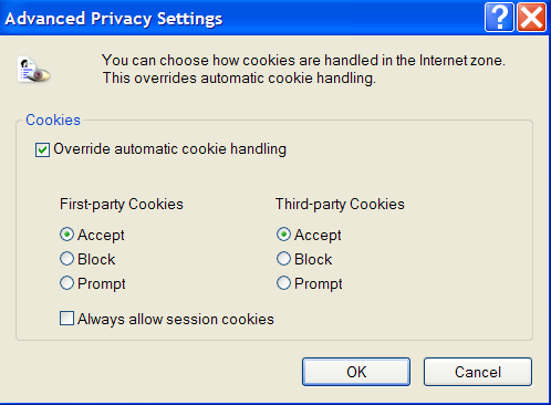 Internet Explorer Security Settings page 9 Enabling cookies Cookies are used by websites to remember certain details about you. They are stored on your computer.