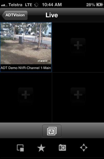 4. Click a camera for live view. You can select main stream or sub stream for viewing the live video.