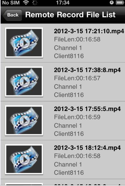 Chapter 7 Playback You can search the recorded video files from the remote storage device for playback. Steps: 1.