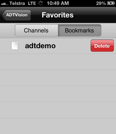 4. Click to return to the Favorites interface. The added cameras are displayed in the list.