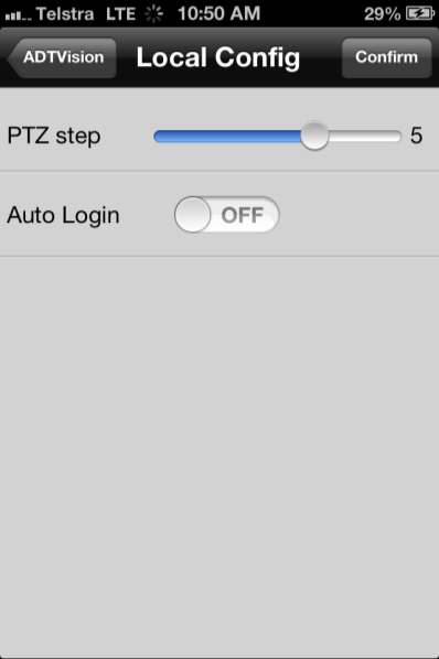 Chapter 9 Local Configuration Through the Local Configuration, you can configure the auto login on/off, and the step of speed when controlling the PTZ camera. Local Configuration Steps: 1.