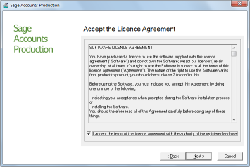 5 Updating a standalone 5. Click Next. The Licence Agreement window appears.