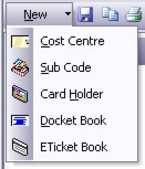 Tool Bar The Tool Bar provides quick access to commonly used functions. New The toolbar item new provides a drop down menu for creating new configuration item.