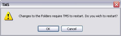 Options The Options dialog allows you to change the behaviour of your TMS software. The dialog provides five tabs as outlined below.