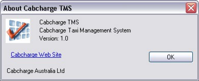 The About form displays information about your version of TMS.