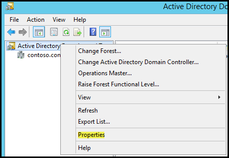 2.1 Add alternative UPN suffix to Contoso Active Directory and update all users in Contoso domain with the new UPN Suffix Task Perform the following tasks on this virtual computer: DC.Contoso.com 1.