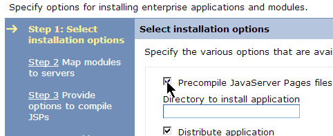 Note: The next sequence of steps will vary depending on the application you are installing. Since this application is fairly simple there are only a few steps and a summary.