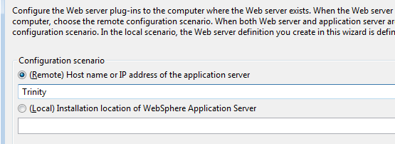 11. Leave the default value of the web server name and click the Next button. Note: This is the name that you will see later in the WebSphere Admin Console. 12.