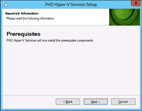 PHDVB v7 for Hyper-V 5. Select the location to install the services and click Next. The setup wizard will next check for required prerequisites, RabbitMQ and Erlang.